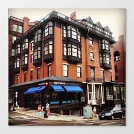 Boston mini-series no. 4 - The corner house. Canvas Print