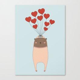 BEAR WITH LOVE Canvas Print