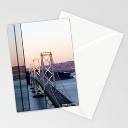 Reflections of the Bay Bridge Stationery Cards