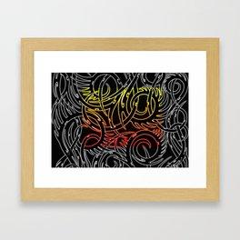 Tribal Fire Framed Art Print