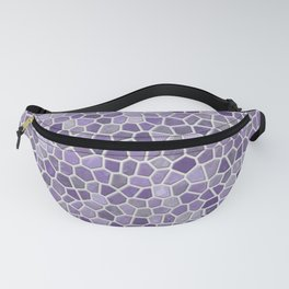Faux Stone Mosaic in Lavender Fanny Pack