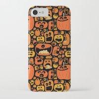 pumpkin iPhone & iPod Cases featuring Pumpkin Pattern by Chris Piascik