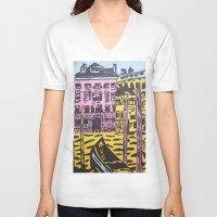 venice V-neck T-shirts featuring Venice by Stefanie Sharp
