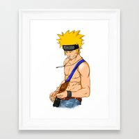 naruto Framed Art Prints featuring naruto by immiggyboi90