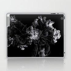 Backyard Flowers In Black And White 4 Laptop & iPad Skin