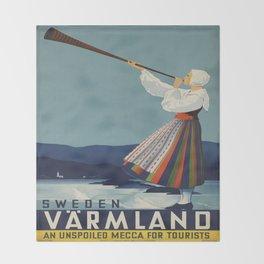Vintage poster - Sweden Throw Blanket