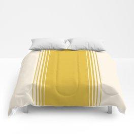 Marigold & Crème Vertical Gradient Comforters