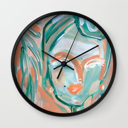 Orange blossoms and palms Wall Clock