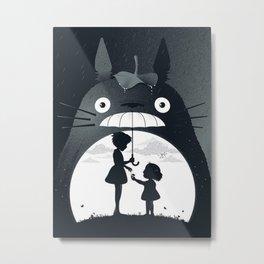 rain umberella cat Metal Print