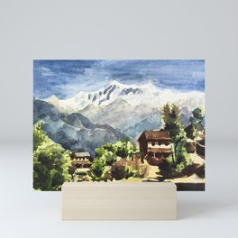 Himalayan Village in Nepal Mini Art Print