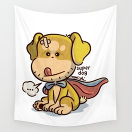 super dog 1 Wall Tapestry