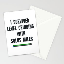 I survived level grinding - Second Age of Retha Stationery Cards