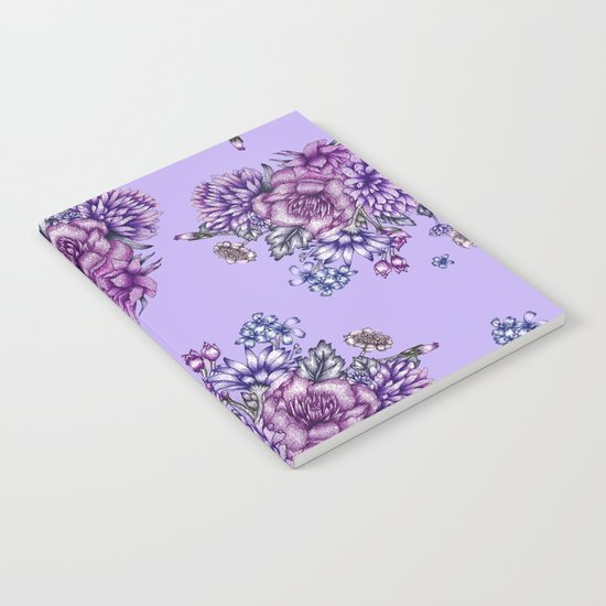 Vintage Purple Florals Notebook