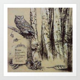 Persephone's Familiar Art Print