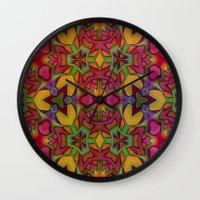 escher Wall Clocks featuring Escher Tile by RingWaveArt