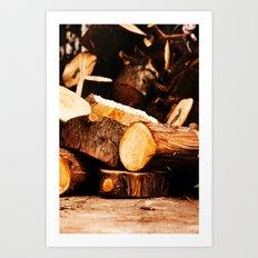 Chopped Wood Art Print