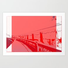 When White is Red, We All Turn Grey in Spokane Art Print