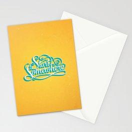 Start Somewhere  Stationery Cards