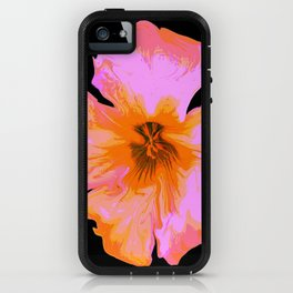 Pink Painted Pansy on Black by Aloha Kea Photography iPhone Case