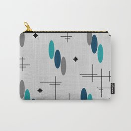 Ovals and Starbursts Teal Carry-All Pouch