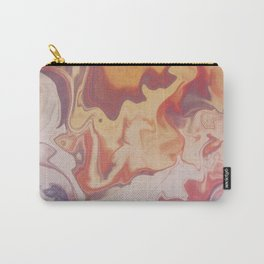 Abstract Pastel Color Liquid in Water Carry-All Pouch
