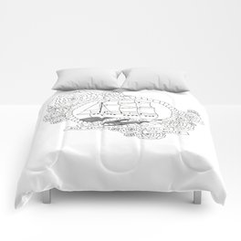 A Ship in the Harbor Comforters