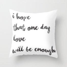 Black on White - I Hope Throw Pillow