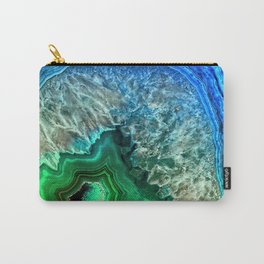 Turquoise Green Agate Mineral Gemstone Carry-All Pouch