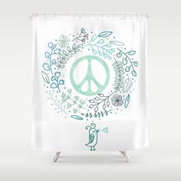 Peace is the way Shower Curtain