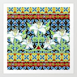 Elizabethan Folkloric Lily Art Print
