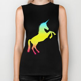 Ombre Magical Rainbow Unicorn Colors Biker Tank