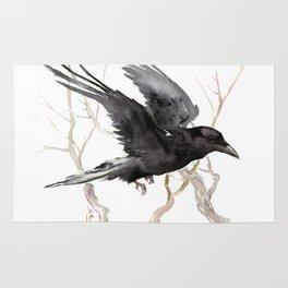 Flying Raven Art Rug