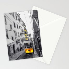 Lisbon Yellow Elevator Tram Stationery Cards