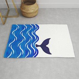 Blue Whale Tail Rug