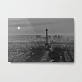 Black and White Eiffel Tower - Paris Metal Print