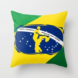 lets dance brazilian zouk flag design Throw Pillow