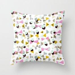 Ralea - abstract design triangle geometric circle print texture dots mid century modern graphic  Throw Pillow
