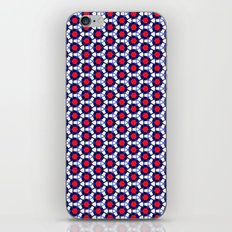 Red & Blue Pattern iPhone & iPod Skin