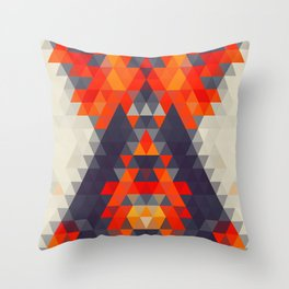 Abstract Triangle Mountain Throw Pillow