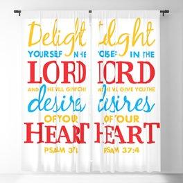 Psalm 37:4 Blackout Curtain