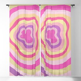Walnut Canyon Stripes Sheer Curtain