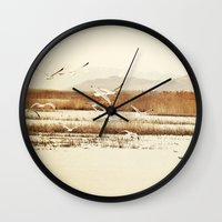 nautical Wall Clocks featuring Nautical  by Sylvia C