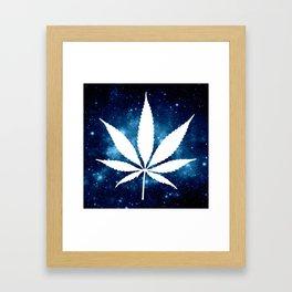 Weed : High Times Blue Galaxy Framed Art Print