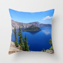 Deep Blue Carter Throw Pillow