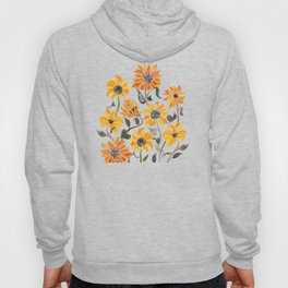 Sunflower Watercolor – Yellow & Black Palette Hoody