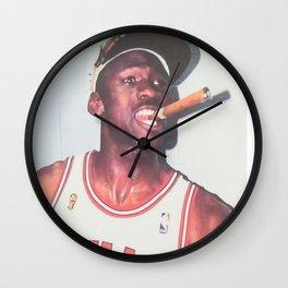 Mi-chael Jordan championship White T-shirt Sizes Available Wall Clock
