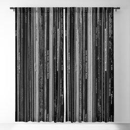 Alt Rock Vinyl Records Blackout Curtain