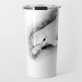 white dolphin Travel Mug