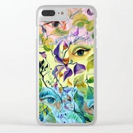 Romantic Sensual Utopian Mysterious Feminine Eyes Clear iPhone Case
