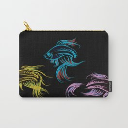 Neon Betta Fish Carry-All Pouch